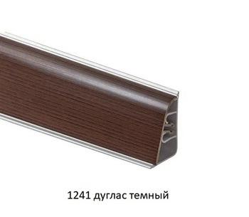 Плинтус пристеночный AP850 с завалом, 1241 Дуглас темный  (цена за 3 пог. м)