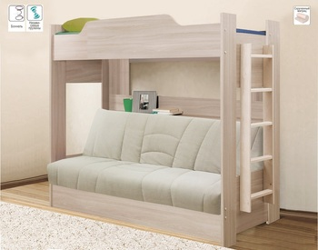Двухъярусная кровать с диваном БНП, Боровичи мебель