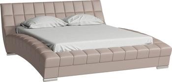 Кровать Оливия 1600 кожзам бежевый (без матраса), Нижегородмебель