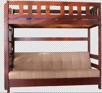 Кровать-чердак двухъярусная «Фламинго» с диваном, без ящиков, Боринское