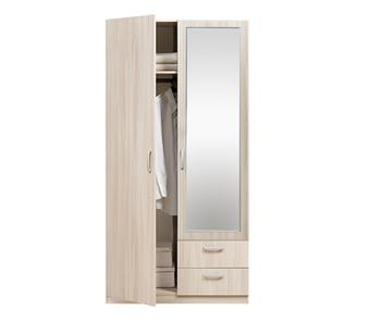 5.13 Z Эко, Шкаф 2-х дверный с зеркалом 1005х1995х540, Боровичи мебель