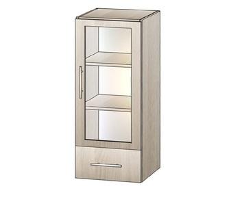 5.32 Блюз, Шкаф-витрина с ящиком и полками 420х400х968, Элегия Боровичи