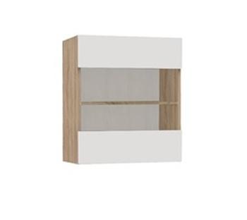Шкаф-витрина навесной №15, Элегант- 9, 600х310х660, Элегия, Боровичи