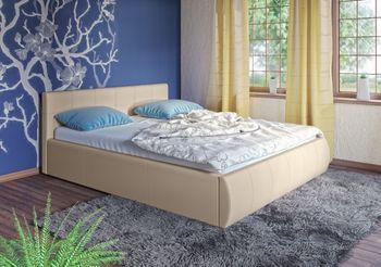 Кровать Афина 1600 кожзам бежевый (без матраса), Нижегородмебель
