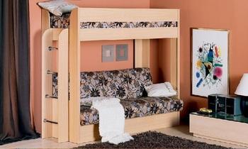 Диван кровать двухъярусная с матрасом, Элегия