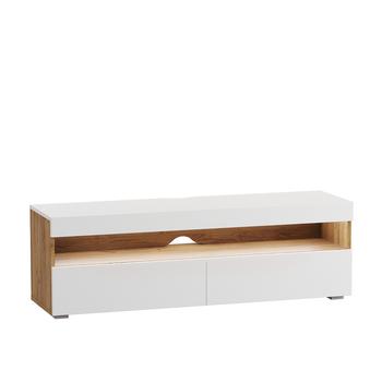 Альба, Тумба под ТВ без подсветки, 1300х361х420 мм, Моби мебель