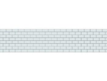 Стеновая панель МДФ 3050х610х6мм, Бланше грань белая