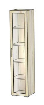 5.29 Шкаф-витрина 420х400х1951, Блюз МДФ Рамка/ЛДСП, Элегия, Боровичи