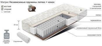 Матрац COMFORT независимые пружины латекс+кокос, 900х2000, Боровичи мебель