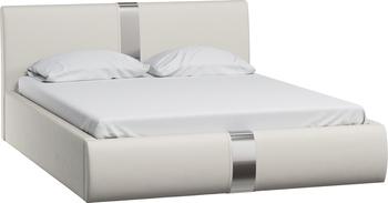Кровать Челси 1600 кожзам белый (без матраса), Нижегородмебель
