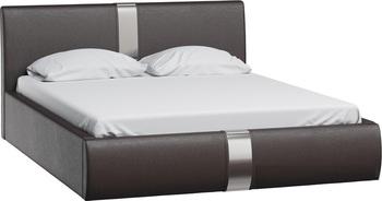 Кровать Челси 1600 кожзам темно-коричневый (без матраса), Нижегородмебель
