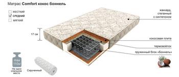 Матрац COMFORT боннель кокос, 800х1900, Боровичи мебель