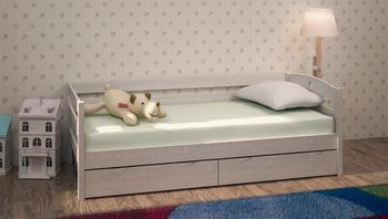 Кровать детская массив с ящиками, Боровичи мебель