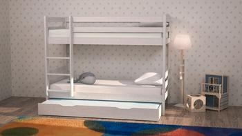 Кровать Двухъярусная массив (трансформер) с дополнительным спальным местом, Боровичи мебель