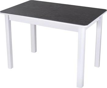 Стол с керамогранитом Диско ПР 70х110(147)х75 КРМ 84 БЛ 04 БЛ