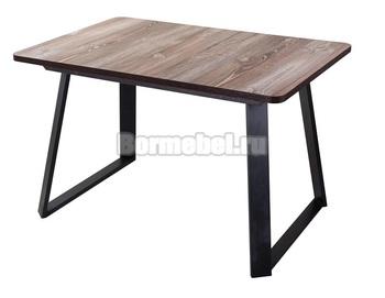Стол кухонный раздвижной Джаз ПР-1 120х80, с ножкой  91-1 ЧР