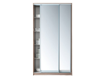 Шкаф-купе, 1200х450/600х2200 мм, 2-х дверный с 2-мя зеркалами, Боровичи мебель