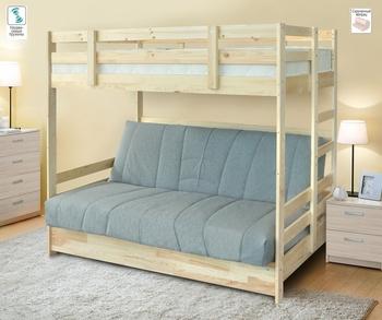 Двухъярусная кровать с диваном Массив БНП, Боровичи мебель