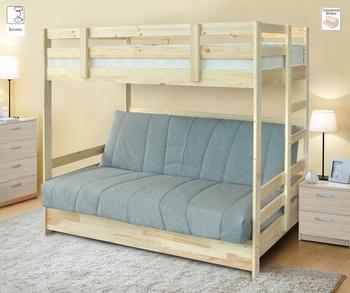 Двухъярусная кровать с диваном Массив, Боровичи мебель