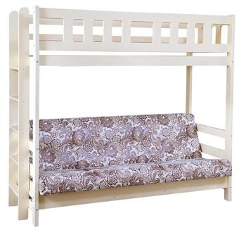 Кровать двухъярусная с диваном Фламинго без ящиков, Боринское