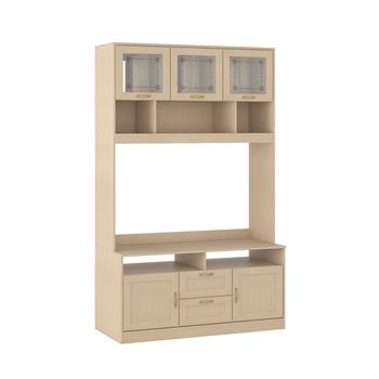 Флорида 1 501/02 Шкаф-витрина средний, 1432 х 555, В 2220 мм, Моби мебель