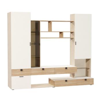 Франко Шкаф комбинированный, 2396 х 510, В 2130 мм, Моби мебель