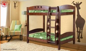 """Кровать """"Фрегат"""" детская двухъярусная массив без ящиков, Боринское"""