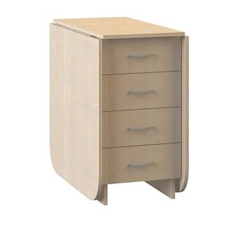 Глория 606 М Стол-книжка с ящиками, 424/1826х753х780, Моби мебель