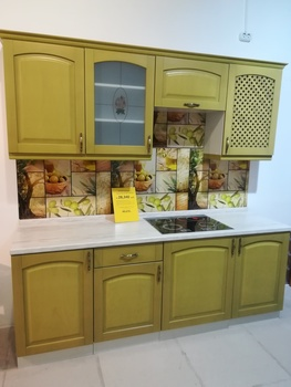 Кухонный гарнитур Трапеза Массив Люкс 2100, столешница 38 мм, Распродажа, Выставка 32 км МКАД