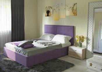 Кровать Прага 1600 ткань (без матраса), Нижгородмебель