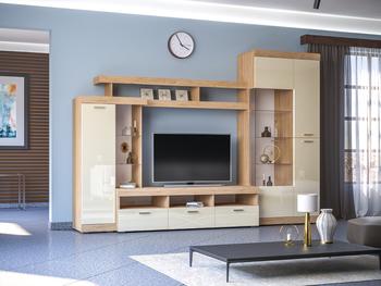 Нота гостиная, 2634х1853х516, Моби мебель