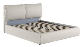 Кровать Камилла 1600 кожзам белый (без матраса), Нижегородмебель