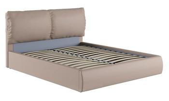 Кровать Камилла 1600 кожзам бежевый (без матраса), Нижегородмебель