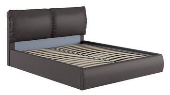 Кровать Камилла 1600 кожзам темно коричневый (без матраса), Нижегородмебель
