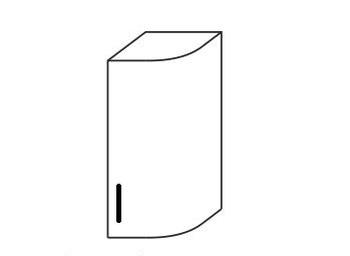 Шкаф № 15у (300х310х706) правый, Патина, Элегия, Боровичи
