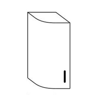 Шкаф № 15у (300х310х706) левый, Патина, Элегия, Боровичи