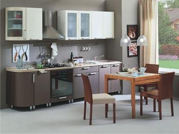 Кухня Трапеза Классика 2335 с гнутыми фасадами, 2 категория, Боровичи Мебель