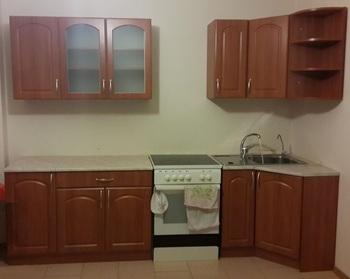 Кухонный угловой гарнитур Классика Арка 900х2100, столешница 26 мм, Распродажа, Выставка 32 км МКАД