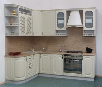 Кухня Классика Прованс угловая 1735х1900, 2 категория, Боровичи мебель