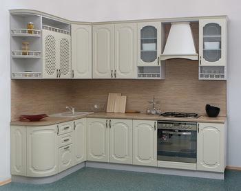 Кухня Классика Прованс угловая 1735х2200, 2 категория, Боровичи мебель