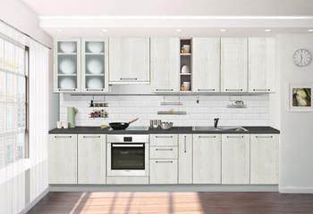 Кухонный гарнитур Классика со стеклом 3150, 1 категория, Боровичи мебель
