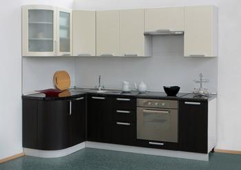Кухня Классика угловая 1335х1800 с гнутыми фасадами, 2 категория, Боровичи мебель