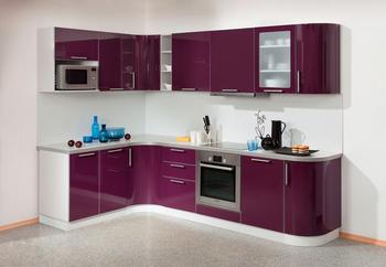 Кухонный гарнитур Классика гнутовогнутый 2185х1650 угловой, 2 категория, Боровичи мебель