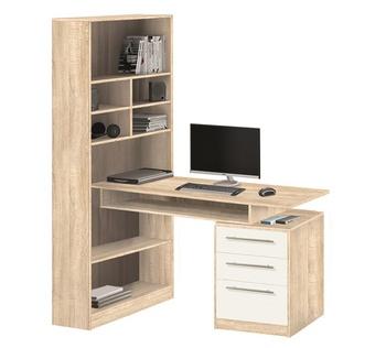 10.04 Стол компьютерный со стеллажом 1260х1770х720, Боровичи мебель