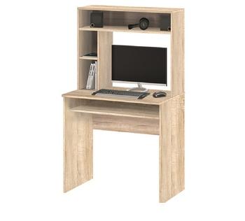 10.05 Стол компьютерный с настольной полкой 845х1415х485, Боровичи мебель