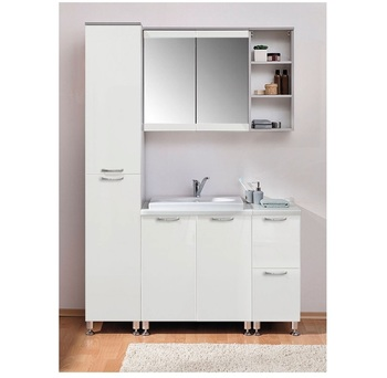 Комплект для ванной № 1, 1400х480х2070 мм, Боровичи мебель