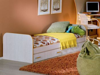 Кровать Джуниор 800 мм с ящиком, Элегия Боровичи