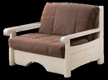 Кресло-кровать Аккордеон 800 массив БЕЗ ЯЩИКА, Боровичи мебель
