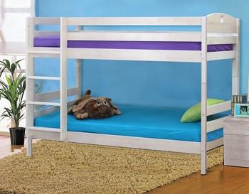Кровать 2-х ярусная без ящиков массив, Боровичи мебель