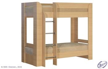 Кровать двухъярусная, c матрасами, Элегия Боровичи